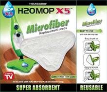 Салфетки из микрофибры для швабры H2O Mop X5