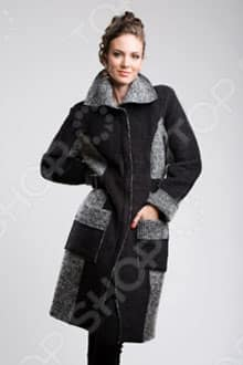 Женское утепленное черное пальто Sirenia София