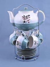 Керамический чайный сервиз на 6 персон