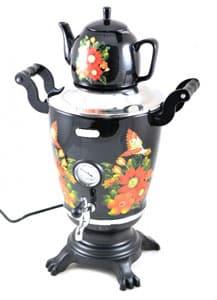 Электрический самовар Элис Сказка с росписью и керамическим чайником